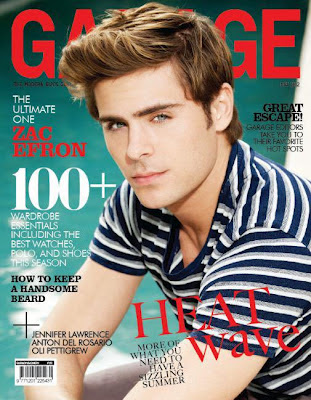 Zac Efron Covers GARAGE May 2012 Issue