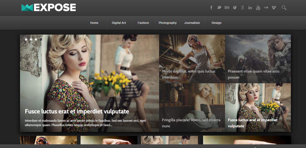 Expose Responsive Free Blogger Templates
