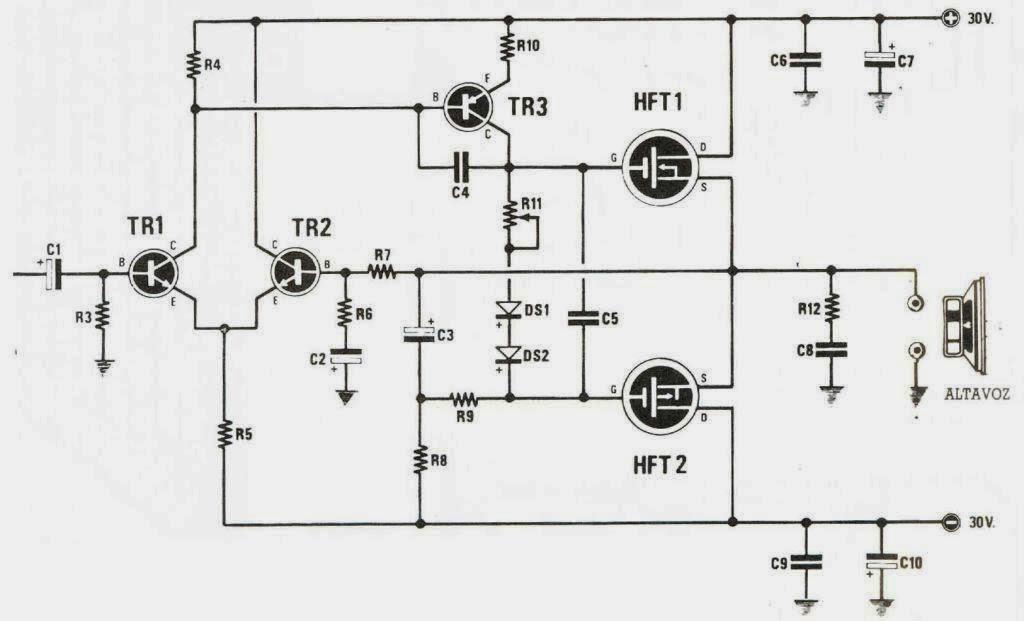 margtecnolog u00cda  amplificador de audio con transistores mostet