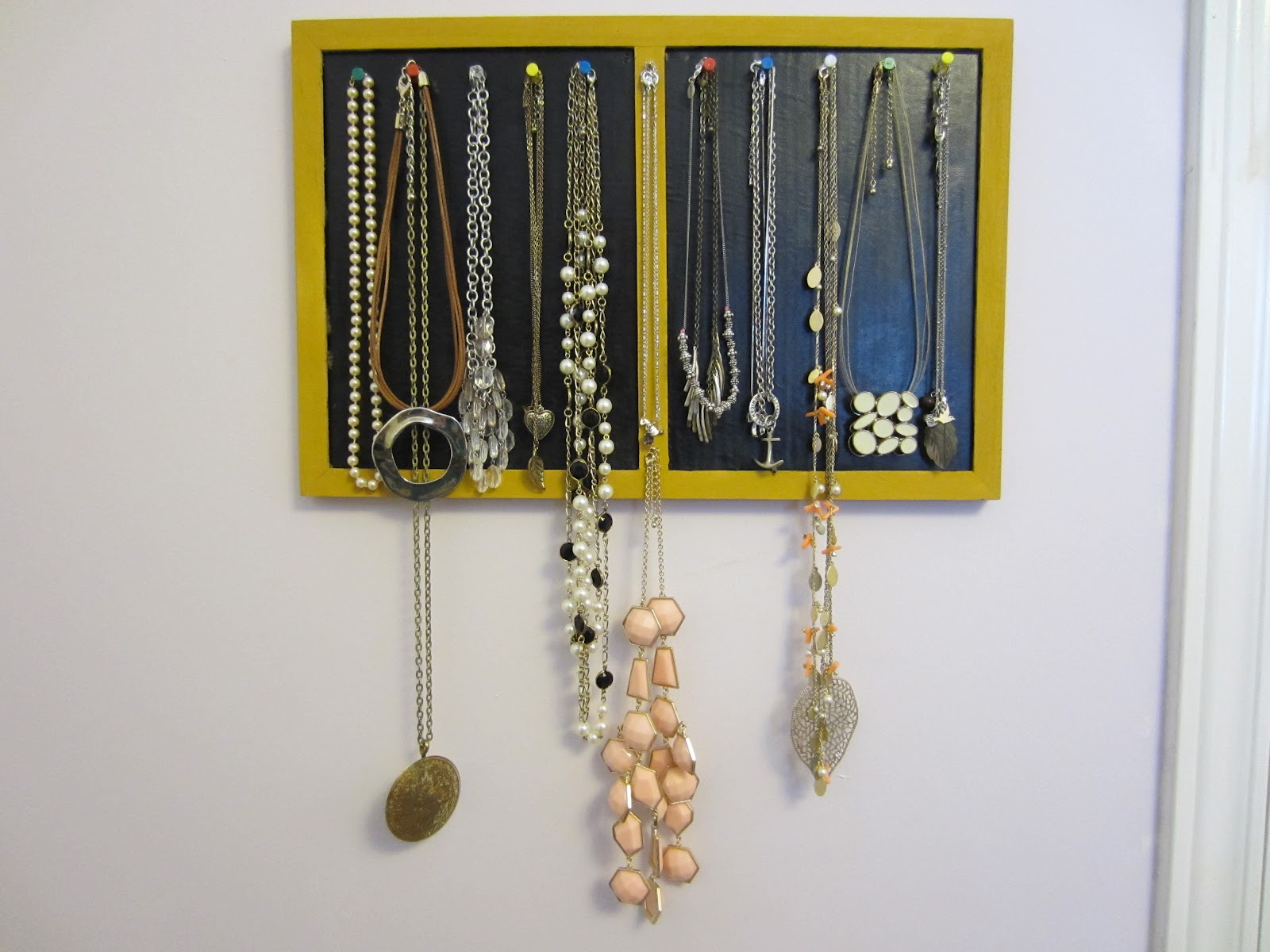 no rags for mags diy jewelry holder wall display