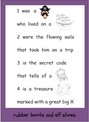 rubberboots and elf shoes: pirate sensory bin and poem freebie