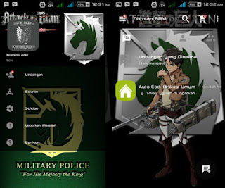 Bbm Mod Attack On Titan  Kepolisian Militer ( The Military Police ) V.2.12.0.11 Apk