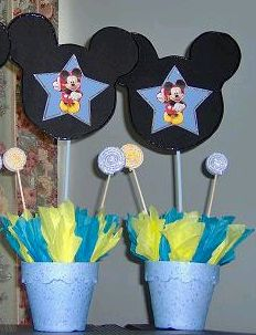 Children's Parties, Baby Mickey Mouse Decoration, Centerpieces