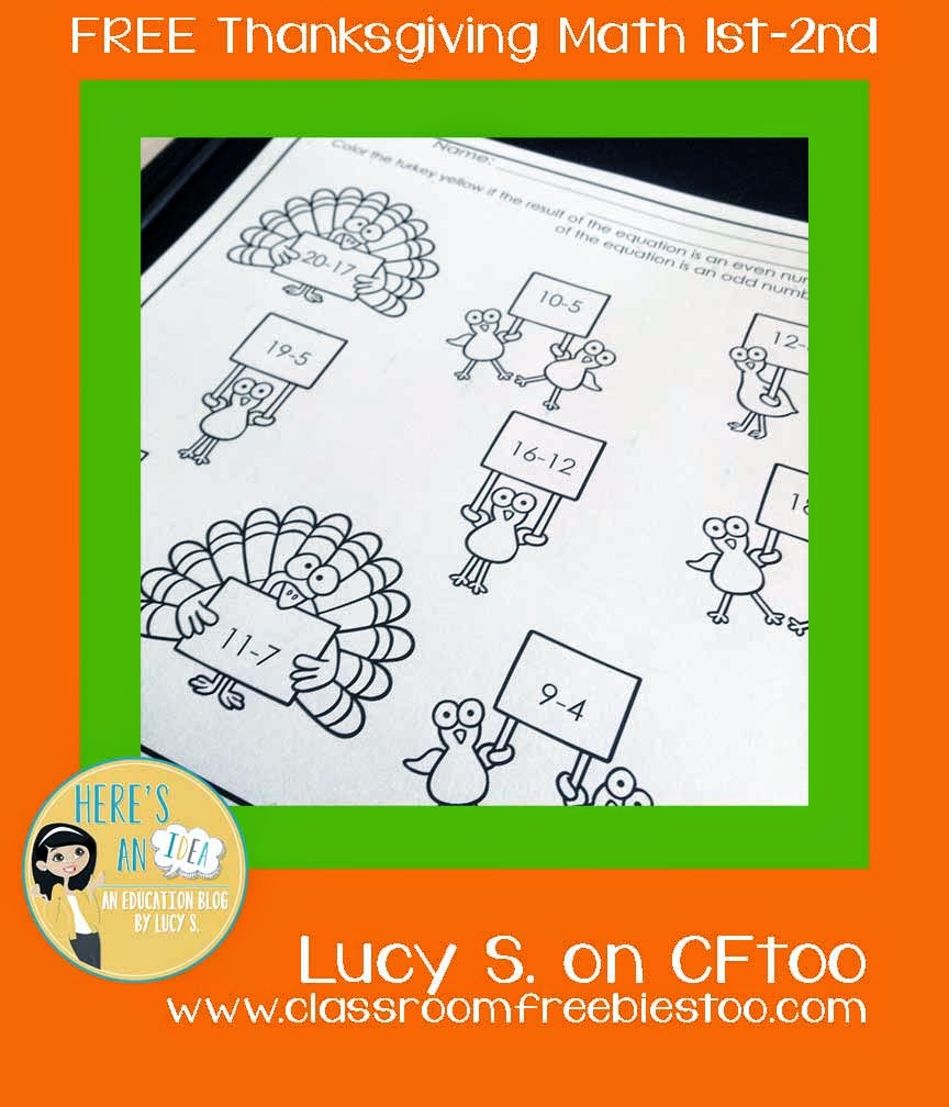 Free Thanksgiving Math - Color the Turkeys!