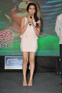 Actress Kriti Kharbanda  Picture Gallery in Short Dress at Lakshmi Raave Maa Intiki Audio Launch  24