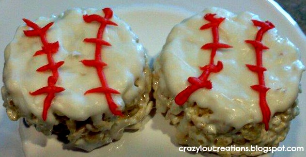 basball rice krispie treats