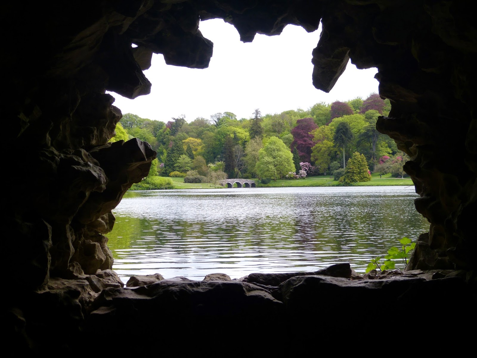 View over the lake from the Grotto, Stourhead