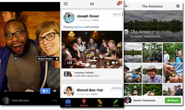 Google + for iOS and Android replaces Messenger by Hangout and add Drive and support Business users, those can control their domain names now and...