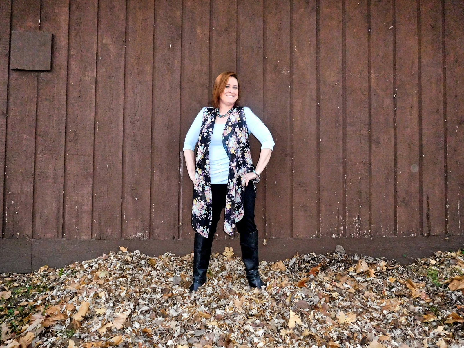 Covered Perfectly Cascading Vest and MicroModal Top