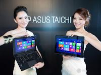 ASUS Taichi - Notebook Ultra Tipis Dual Layar Berprosesor Intel Core i7