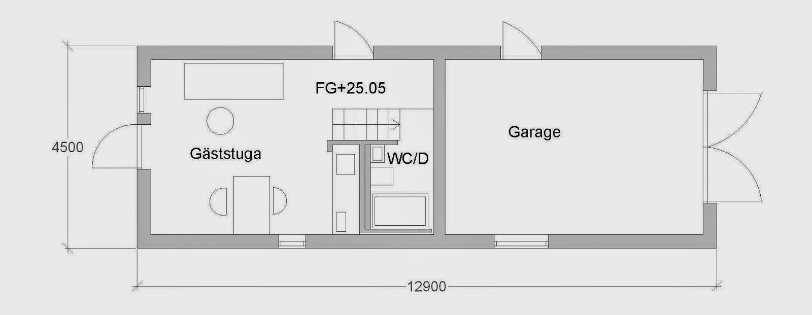 Villa Natura ekologiskt lågenergihus Österlen gäststuga sovloft garage