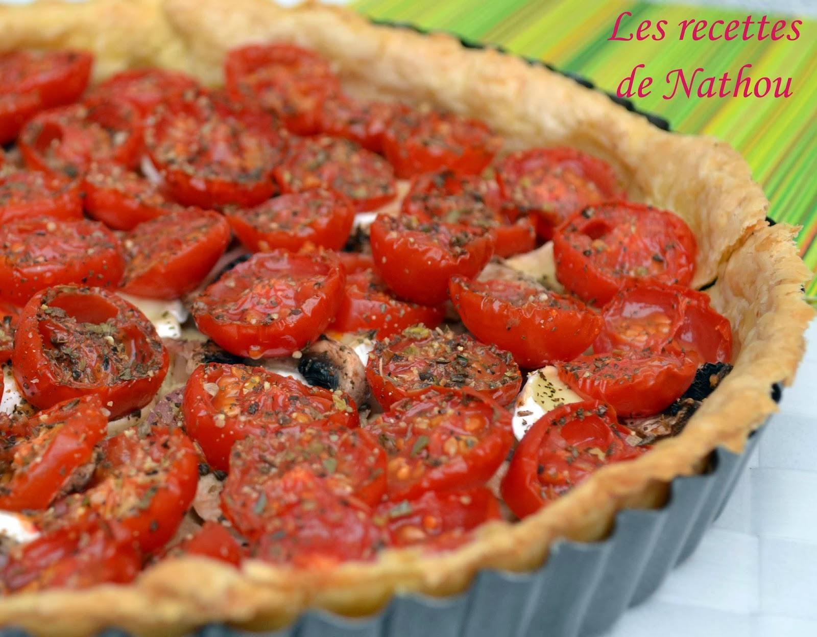 tarte aux tomates champignons et brie de joce blogs de cuisine. Black Bedroom Furniture Sets. Home Design Ideas