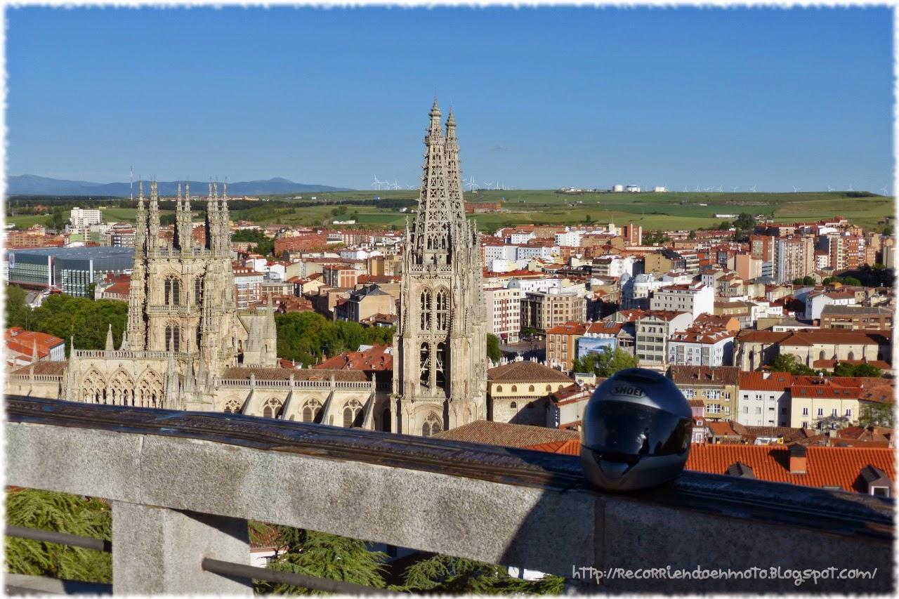 Catedral de Burgos desde el mirador del castillo