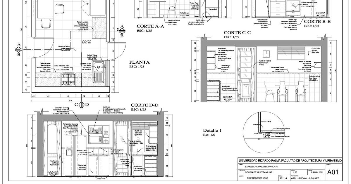 Expresi n arquitect nica 4 profile jose diaz for Planos de cocinas 4x4