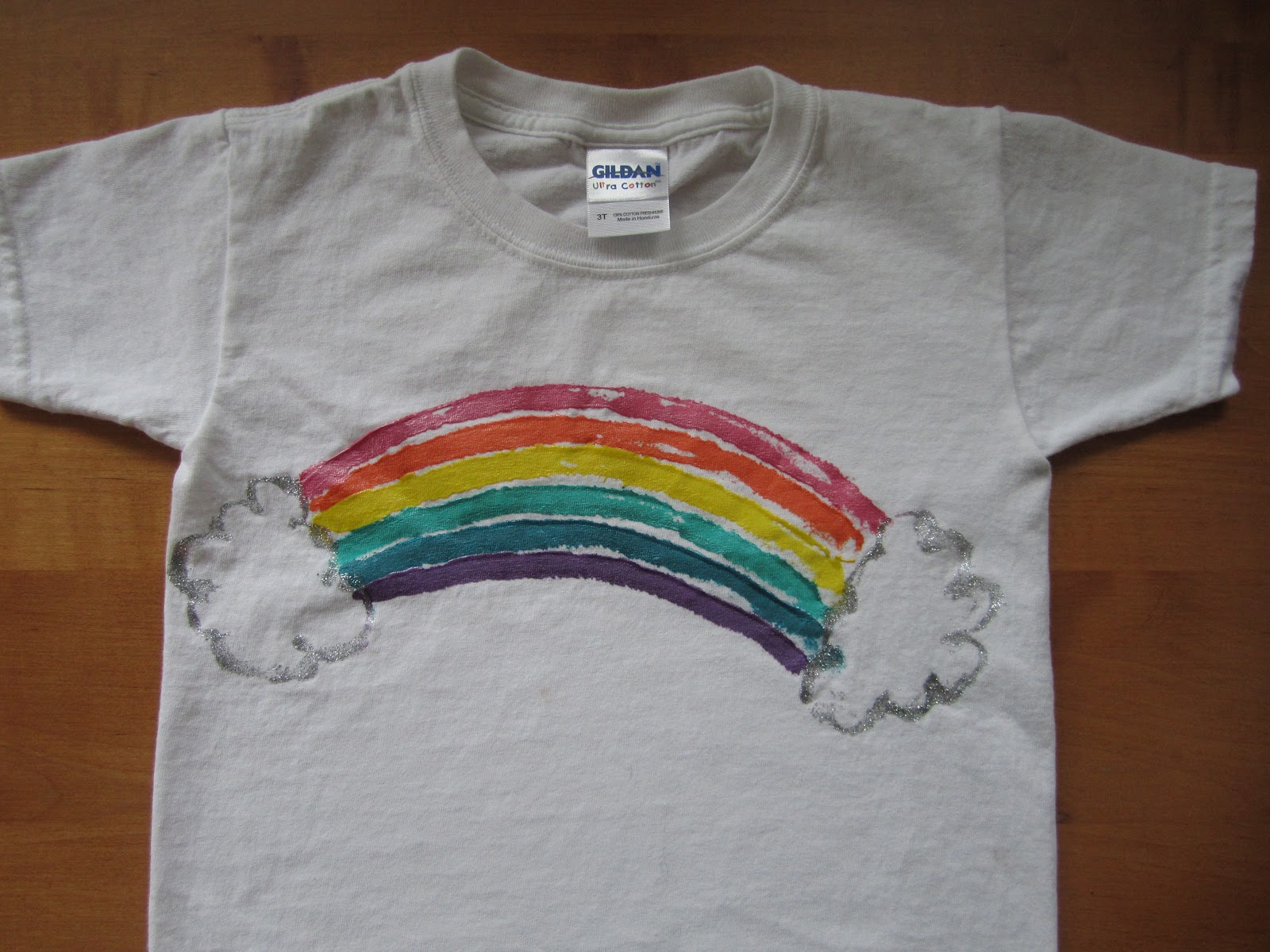 Creative food rainbow shirts for How to put a picture on a shirt diy