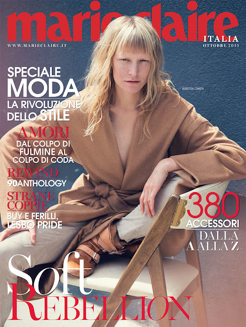 Fashion Model @ Kirsten Owen - Marie Claire Italy, October 2015
