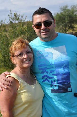 Jérôme avec sa maman (Martine )