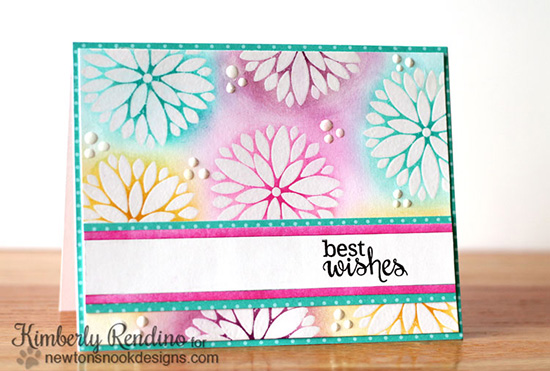 White Embossed Flower Card by Kimberly Rendino   Fanciful Florals Bold Flower Stamp set by Newton's Nook Designs