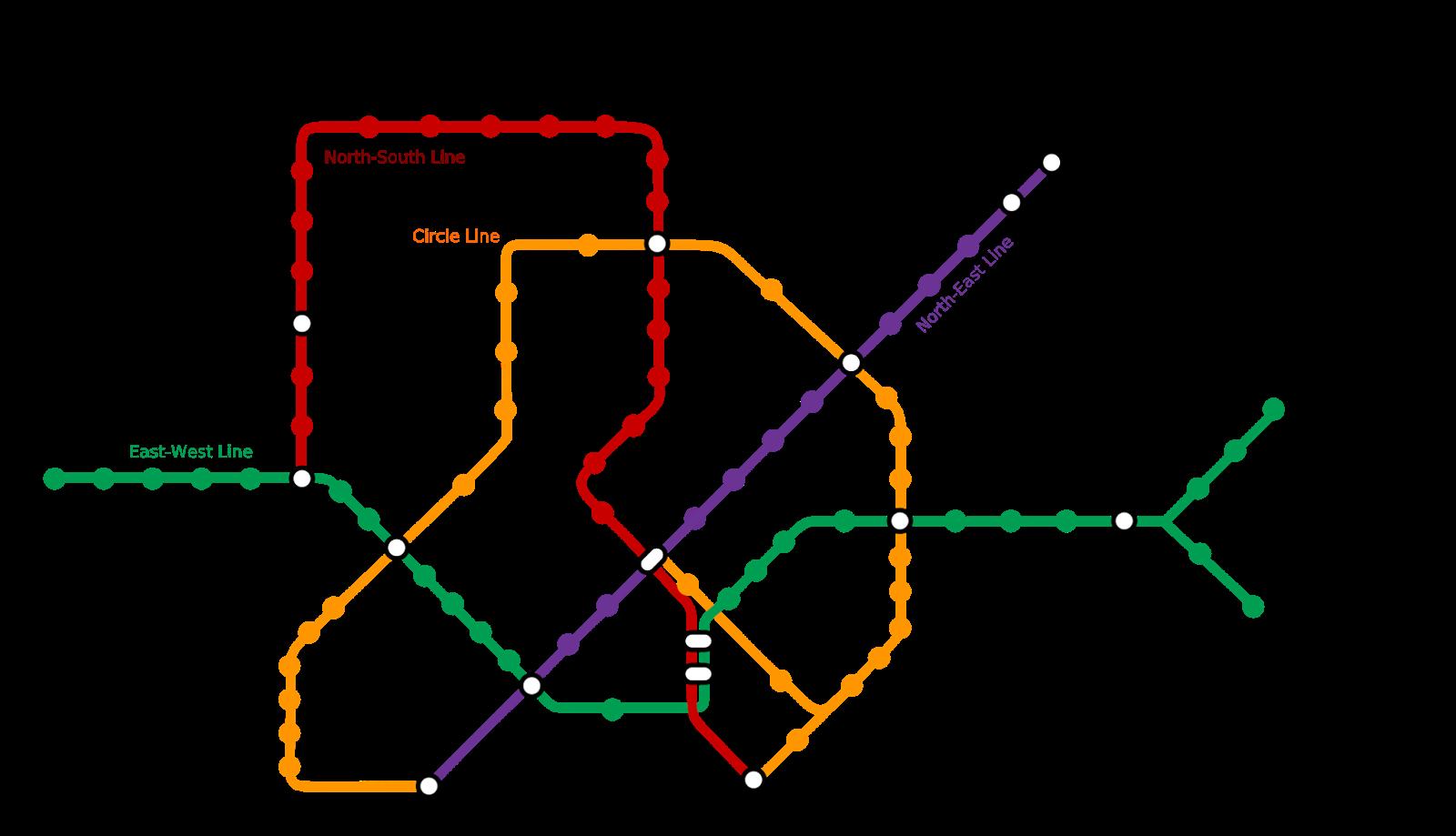 peta mrt singapore