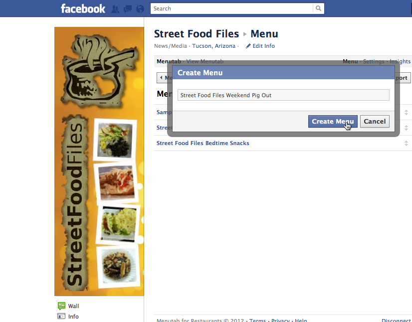 Video on how to add a free menu tab to your food truck's Facebook fan page