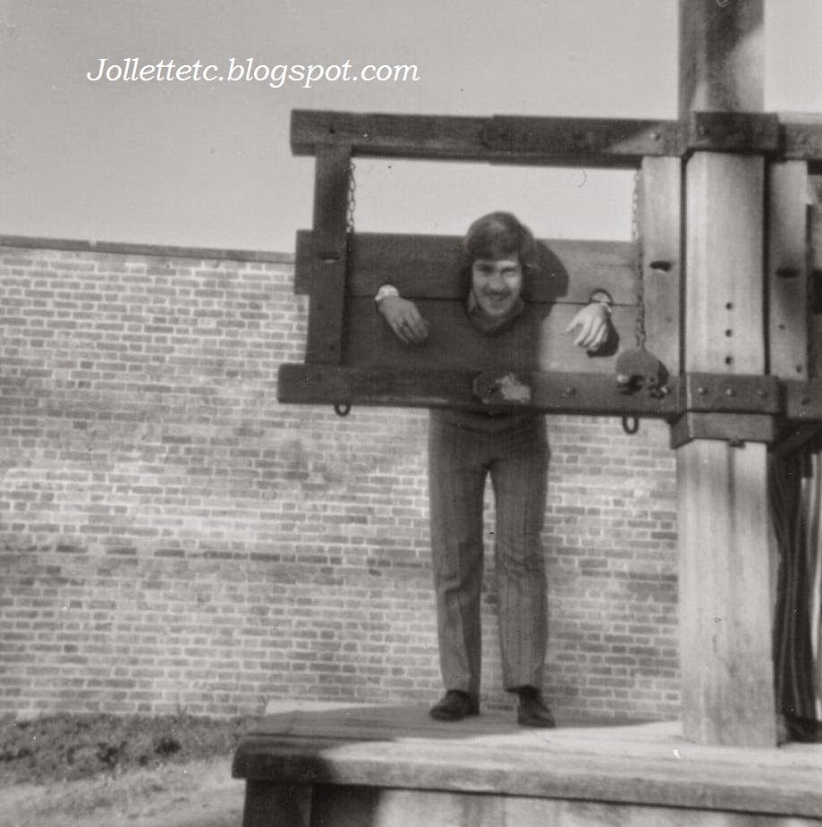 Barry Mathias in the pillory Williamsburg Dec 1971