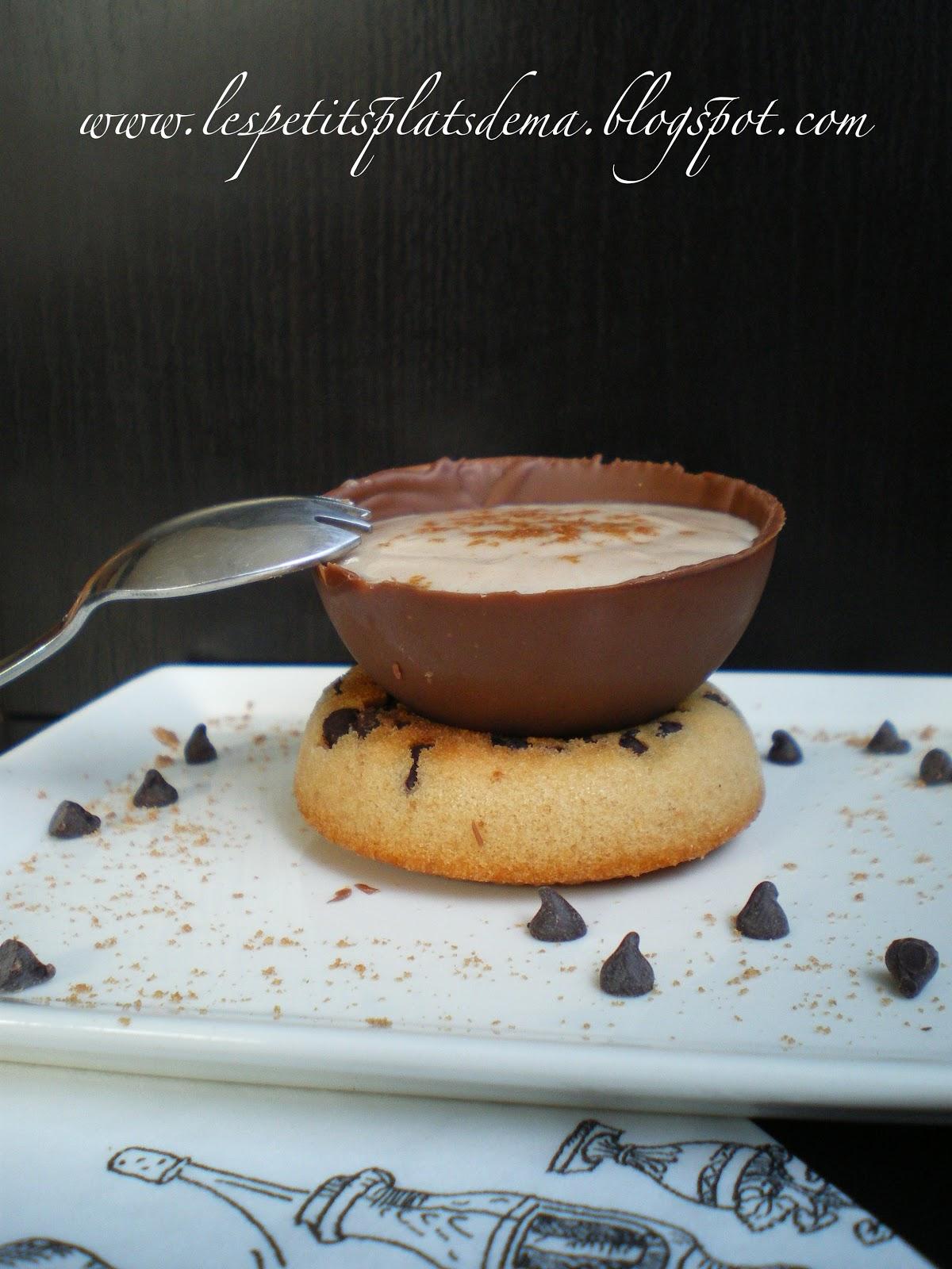 coupelle de chocolat au lait et cr me pralin e le blog pour no l. Black Bedroom Furniture Sets. Home Design Ideas