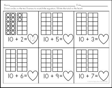 math worksheet : the best of teacher entrepreneurs ii free math lesson  u201cteen  : Decomposing Numbers Kindergarten Worksheets