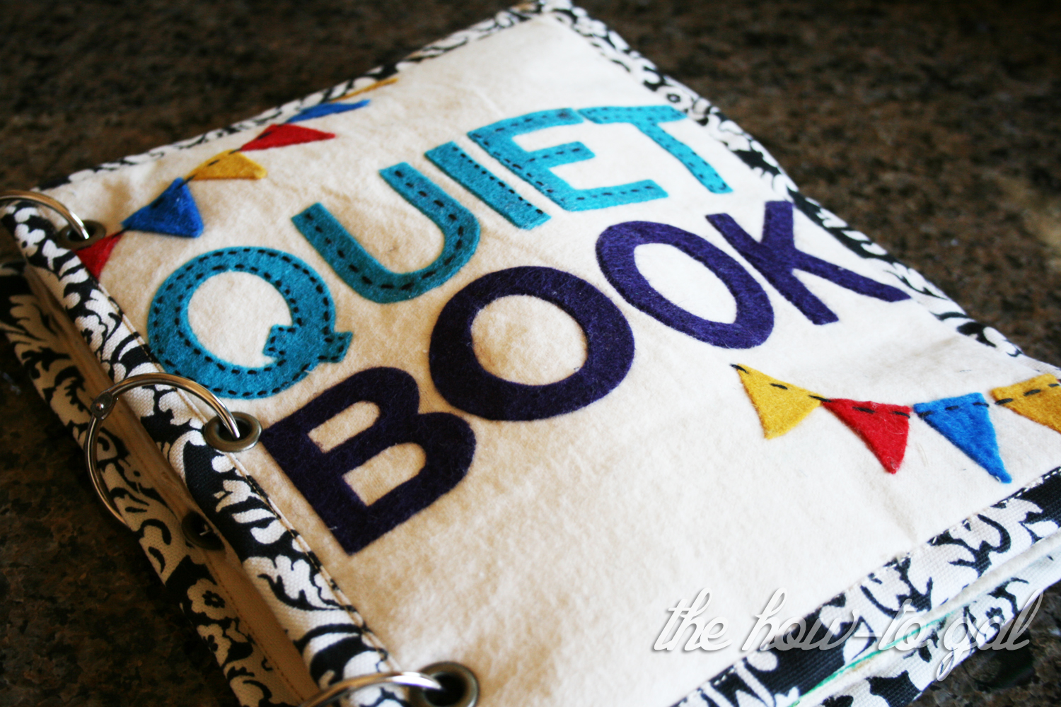 Quiet Book Cover Diy : The how to gal finished quiet book