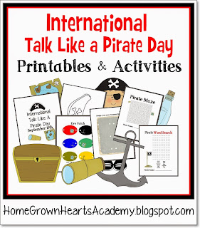 FREE International Talk Like a Pirate Day Printables and Activities