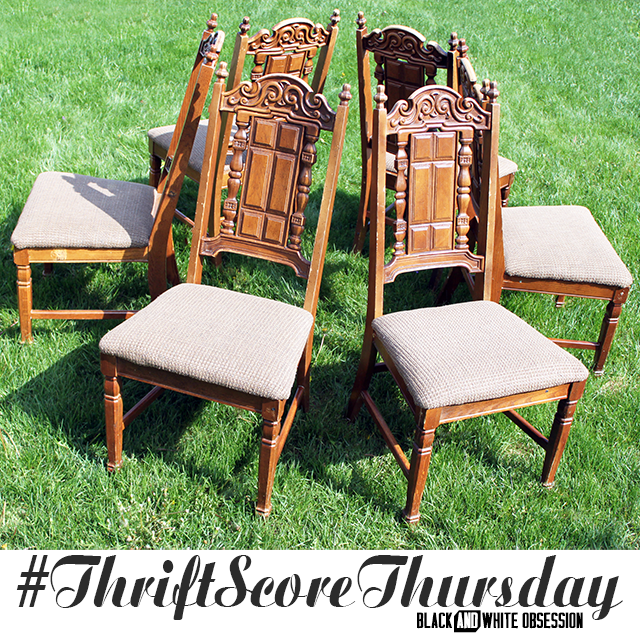#thriftscorethursday Week 35 Fancy Chairs | www.blackandwhiteobsession.com