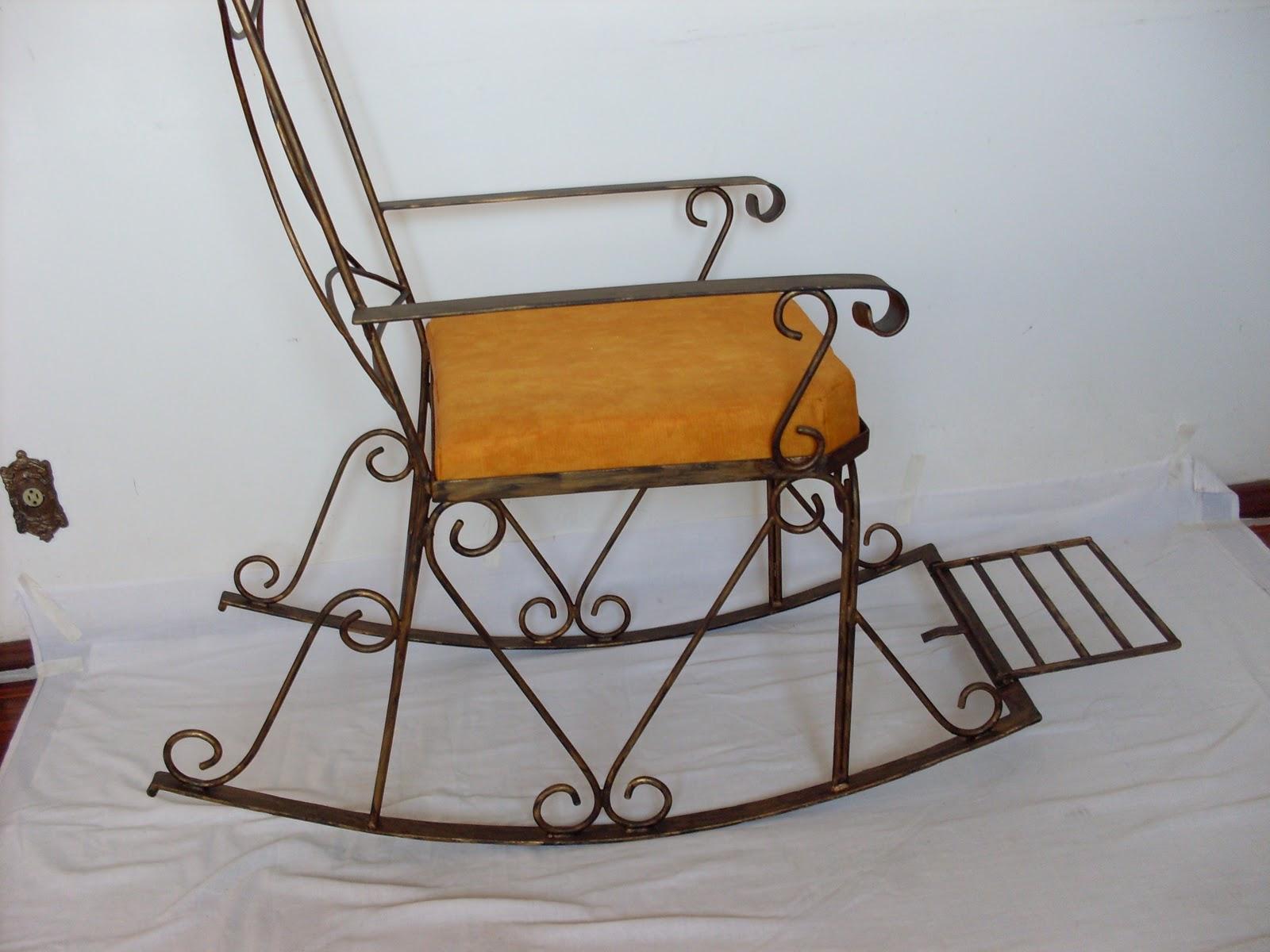 Beto Goteira Arte Em Ferro Artesanal: cadeira de balanço rio grande #A96C22 1600x1200
