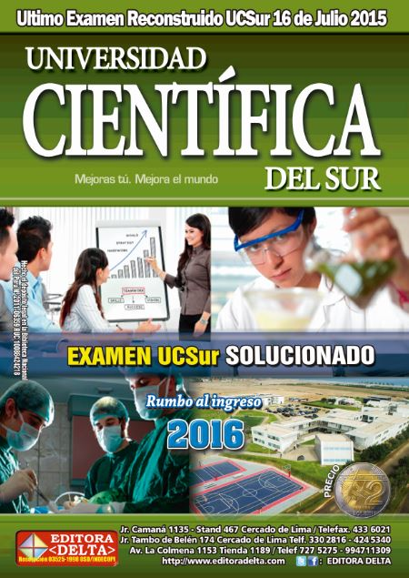 Examen U. Cientifica del Sur