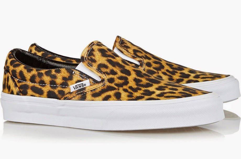 the daily find: vans leopard-print canvas slip-on sneakers | the ...
