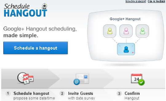 Google+ hangout scheduling