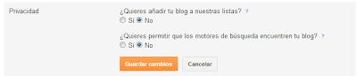 Privacidad Blogger.