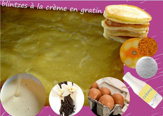 """blintzes à la crème aux oeufs, parfum vanille et zestes d""""'oranges"""