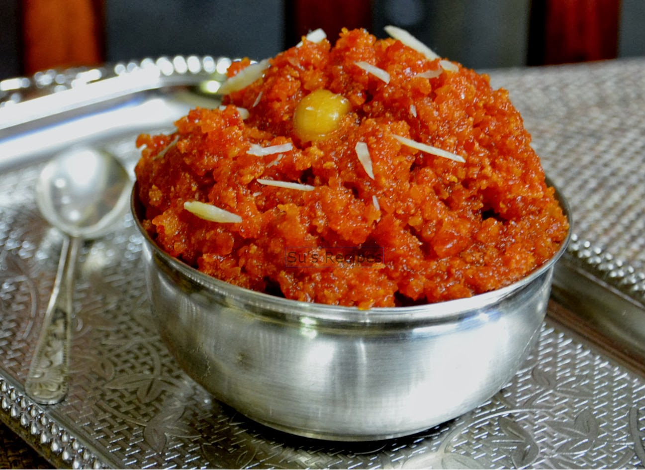 Su's Recipes: Gajar ka Halwa - Carrot Pudding