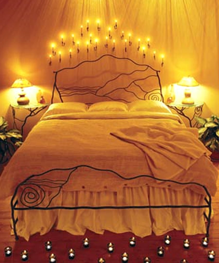 Bedroom romantic lighting - How To Make Your Bedroom Look More Romantic