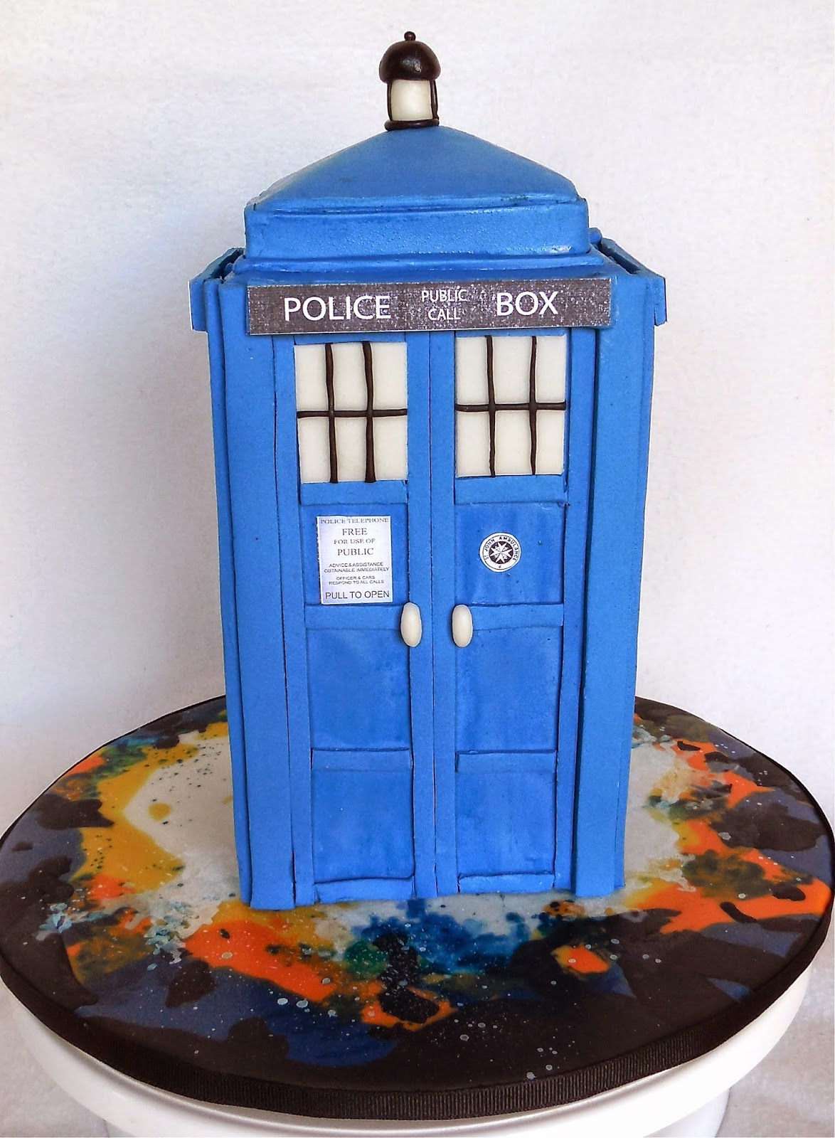 Custom Cakes by Lori Dr Who Tardis Cake for an 11 yr old