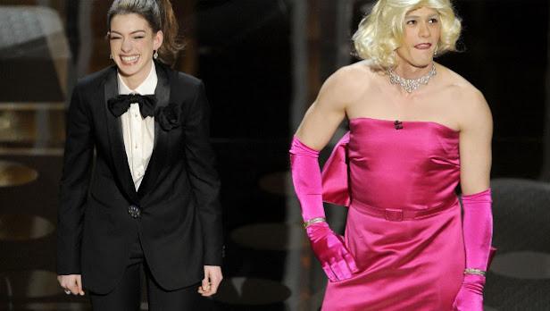 James Franco Anne Hathaway gala oscar 2011