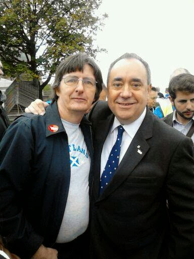 Alex Salmond & Me at Scottish Independence Rally 2013
