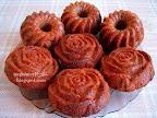 Baileys likőrös kakaós muffin, nagyon finom, virágmintás, szilikonos muffin sütő formában sütött sütemény.