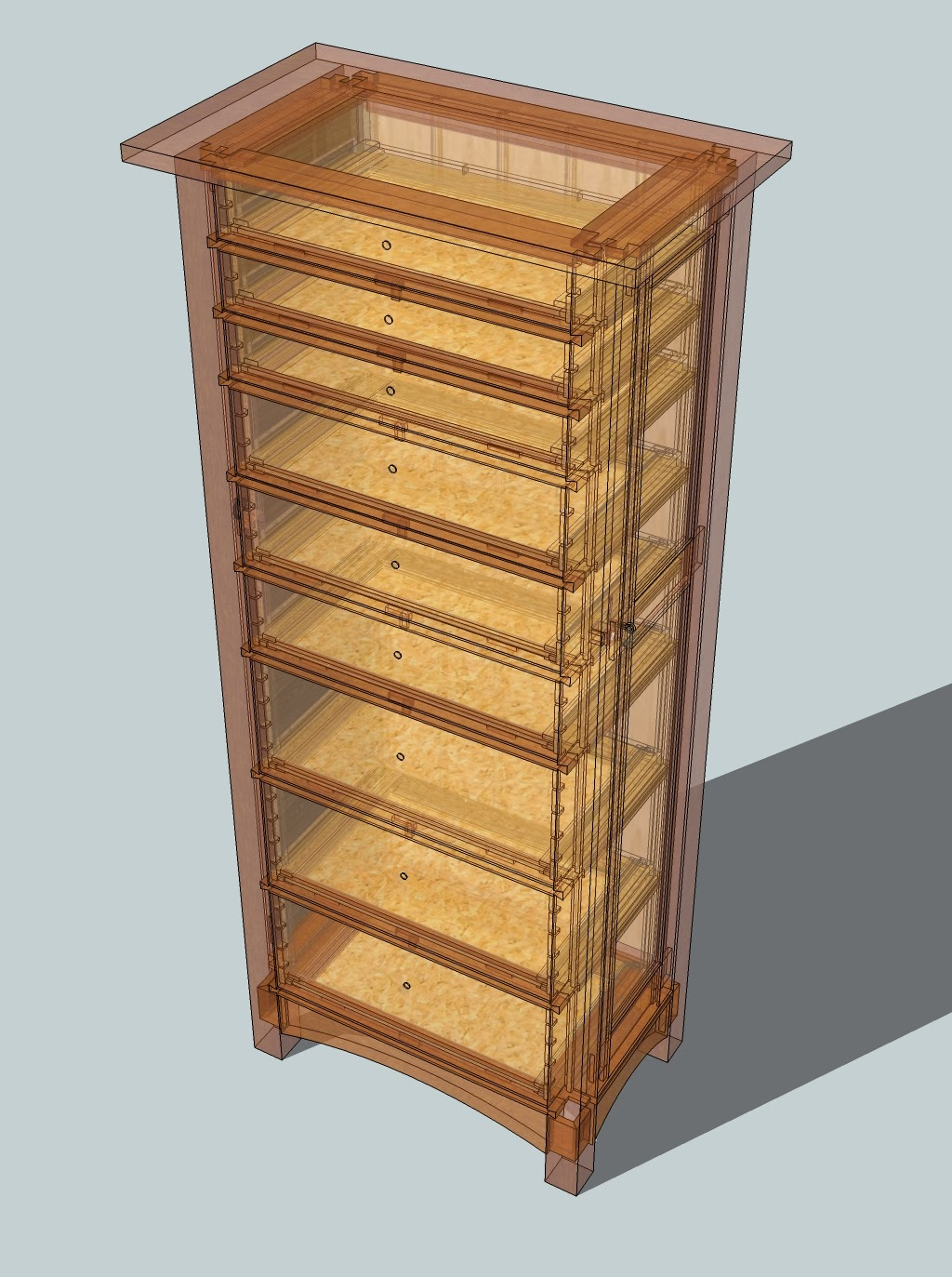 Honey do woodworking jewelry lingerie chest project begins for Lingerie and jewelry chest