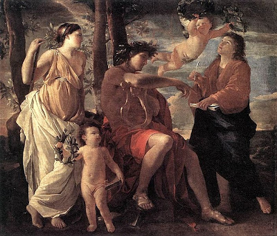 The Inspiration of the Poet by Nicolas Poussin