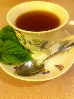 Ginger Green Tea with Basil