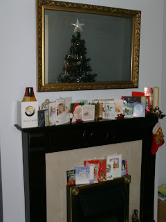 Fireplace with Christmas Holiday Cards