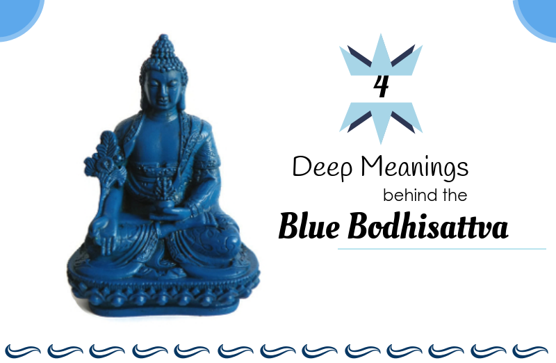 blue tibetan medicine buddha