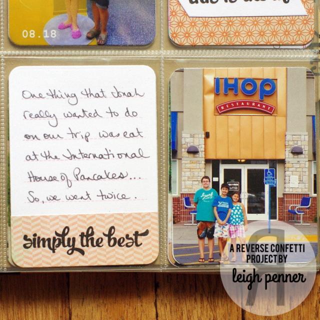 Reverse Confetti August Blog Hop Leigh Penner @leigh148 @reverseconfetti #reverseconfetti #pocketalbum #summer