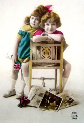 foto vintage de niños antiguos