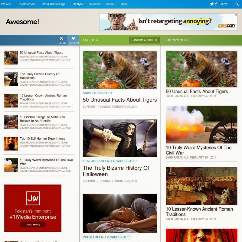 Awesome Free responsive blogger template